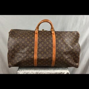🔥💯Louis Vuitton Keepall 60 Bandouliere Bag